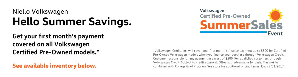 Number One Certified Pre-Owned Volkswagen Dealer - Niello Volkswagen