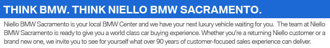 Why Buy from Niello BMW
