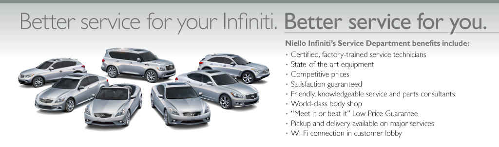 Niello Infiniti Service Dept
