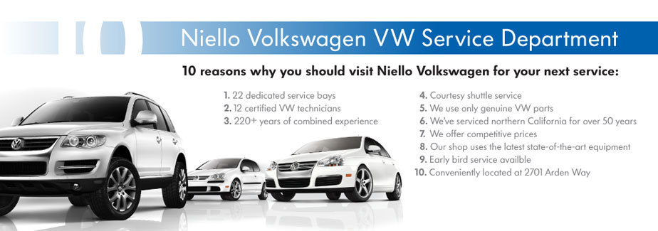 Niello vw service coupons