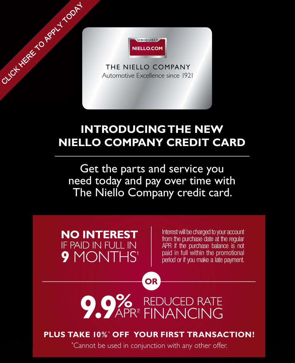 Niello credit card