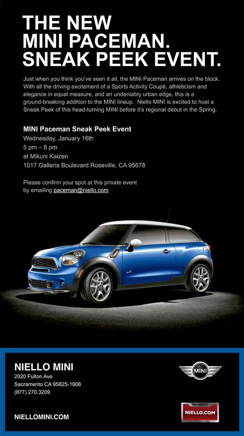 MINI Paceman Sneak Peek