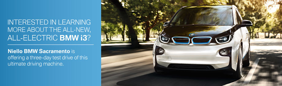 BMW i3 Extended Test Drive, Niello BMW, Sacramento California