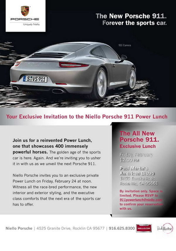 The All New 911 Power Lunch