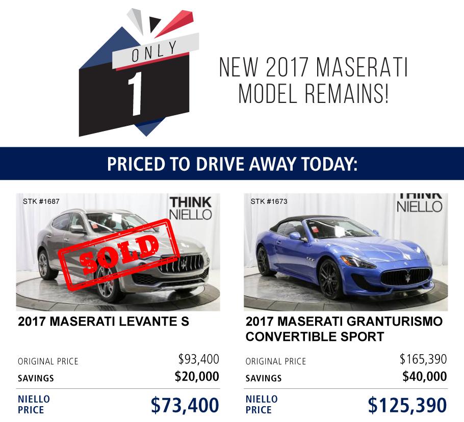 Niello Maserati Sacramento Offers