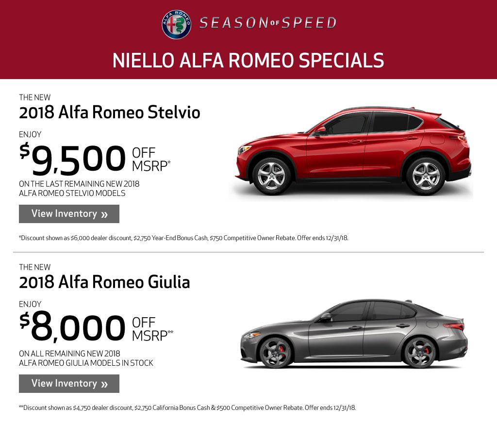 alfa romeo specials