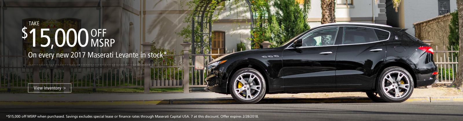 New Maserati Specials